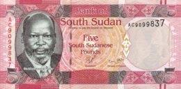 South Sudan 5 Pounds, P-6 (2011) - UNC - Soudan