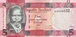 South Sudan 5 Pounds, P-11 (2015) - UNC - Soudan