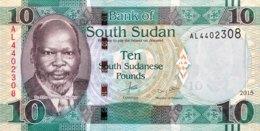South Sudan 10 Pounds, P-12a (2015) - UNC - Soudan