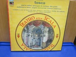 LP113 - COFANETTO 2 LP + LIBRETTO -TOSCA -MARIA CALLAS-GIUSEPPE DI STEFANO-TITO GOBBI-MELCHIORRE LUISE-ANGELO MERCURIALI - Oper & Operette