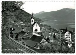 Ref 1256 - Real Photo Postcard - Railway Tracks - Walchwil Am Zugersee Zug Switzerland - ZG Zug