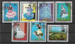 PARAGUAY 1981 COSTUMI TIPICI FEMMINILI YVERT. 1864-1870 USATA VF - Paraguay