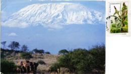 KENYA  KENIA  Elephants At The Foot Of Mount Kilimanjaro  Nice Stamp - Kenia