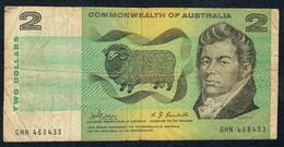 AUSTRALIA P38c 2 DOLLARS   1968 Phillips / Rendall. FINE - Emissions Gouvernementales Décimales 1966-...