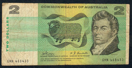 AUSTRALIA P38c 2 DOLLARS   1968 Phillips / Rendall. FINE - 1966-72 Reserve Bank Of Australia