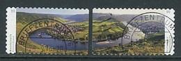 GERMANY Mi. Nr. 3241-3242 Moselschleife Bei Kröv  - Used - [7] Repubblica Federale