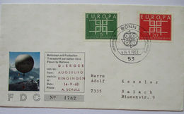 Europa Cept 1963, Ballonpost  FDC Bundesrepublik  - Europäischer Gedanke