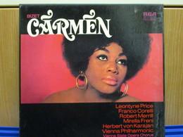 LP115 - COFANETTO 3 LP + LIBRETTO -CARMEN -LEONTYNE PRICE-FRANCO CORELLI-ROBERT MERRIL-MIRELLA FRENI - Opera