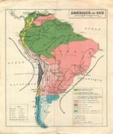 CARTE GEOGRAPHIQUE AMERIQUE DU SUD - Geographical Maps