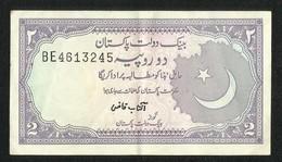 Pakistan BANKNOTE 2 Rupees  Signature  Aftab Kazi - Pakistan
