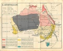 CARTE GEOGRAPHIQUE L'AUSTRALIE - Geographical Maps