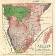 CARTE GEOGRAPHIQUE  AFRIQUE DU SUD - Geographical Maps