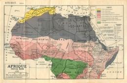 CARTE GEOGRAPHIQUE AFRIQUE DU NORD - Geographical Maps
