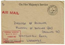 Ref 1256 - 1967 Official Cover GB FPO 534 Field Post Office 534 R.A.F - El Adem Libya Libia - Libya