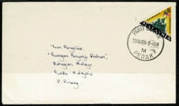 Ref 1256 - 1966 Cover Perak Malaysia - 10c To Radio Malaysia Pilau Penang - Triangle Stamp - Malaysia (1964-...)