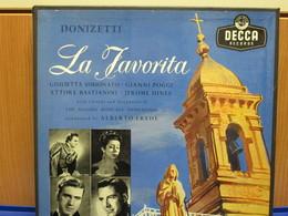 LP116 - COFANETTO 3 LP + LIBRETTO -LA FAVORITA -GIULIETTA SIMIONATO-GIANNI POGGI-ETTORE BASTIANINI-JEROME HINES - Opera