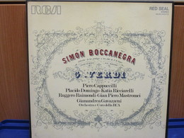 LP118 - COFANETTO 3 LP + LIBRETTO -SIMON BOCCANEGRA-P. CAPPUCCILLI-P. DOMINGO-K. RICCIARELLI-R.RAIMONDI-G.P. MASTROMEI - Oper & Operette