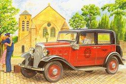 Citroen C4 Taxi  -  1928  -  Artiste: Alain Chevrier  -  CPM - Taxi & Carrozzelle