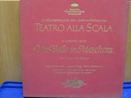 LP119 - COFANETTO 3 LP + LIBRETTO -UN BALLO IN MASCHERA-ANTONIETTA STELLA-GIANNI POGGI-ETTORE BASTIANINI - Oper & Operette