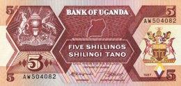 Uganda 5 Shillings, P-27 (1987) - UNC - Ouganda
