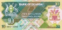 Uganda 10 Shillings, P-28 (1987) - UNC - Ouganda