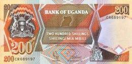 Uganda 200 Shillings, P-32b (1991) - UNC - Ouganda
