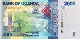 Uganda 2.000 Shillings, P-50a (2010) - UNC - Uganda