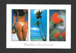 REPUBLICA DOMINICANA - RÉPUBLIQUE DOMINICAINE -  JOLIE FILLE PIN UPS TRÈS SEXY QUI VA À LA PLAGE - PHOTO CARIBE LINE - Dominicaine (République)