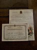 Telegram Naar Albert Van Den Broeck   Aalst 1954 - Mariage
