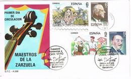 30993. Carta BARCELONA 1983. Maestros Zarzuela. Exposicion Pintor JOAN MIRÓ - 1931-Hoy: 2ª República - ... Juan Carlos I