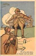 -ref-B418- Militaria - Homiristiques - Illustrateurs - Illustrateur - Je Croyais Voir Un Tank - Tanks - Militaires - - Humoristiques