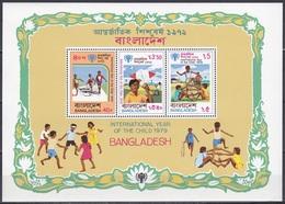Bangladesch Bangladesh 1979 Organisationen UNO ONU UNICEF Kinder Children Spiele Games, Bl. 6 ** - Bangladesch