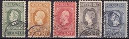 1913 Jubileumzegels 2½ / 12½ Cent Tanding 11½ X 11 NVPH 90 / 94 A - Gebruikt