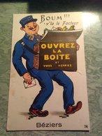 Carte A Systeme - Boum V' La Le Facteur Beziers - Beziers