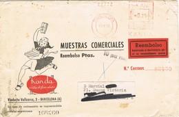 30997. Carta Contra Reembolso BARCELONA 1952. Franqueo Mecanico. Publicidad KANDA. TASA, Taxe - 1951-60 Storia Postale