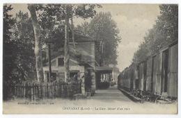 CPA 42 Chavanay La Gare Départ D'un Train Saint Clair Alban Du Rhône St Maurice L'Exil Pelussin Vienne Condrieu Chanas - Frankrijk