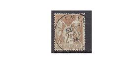 2 Francs Bistre Sur Azuré N°105 Oblitéré Cad - 1876-1878 Sage (Type I)