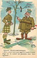-ref-B414- Militaria - Humoristiques -  Illustrateurs - Illustrateur Ferraz -troupe Franco Britannique - Highlander- U K - Humoristiques