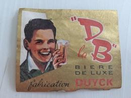 Ancienne Étiquette 1 BIÈRE DB LUXE BRASSERIE DUYCK JENLAIN NORD - Bier