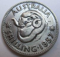 AUSTRALIA SHILLING 1957 ARGENTO KM# 59 - Monnaie Pré-décimale (1910-1965)