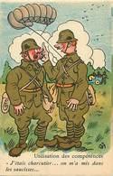 -ref-B413- Militaria - Humoristiques -  Illustrateurs - Illustrateur M.s - Utilisation Des Competences - Parachutisme - - Humoristiques