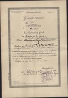 Gendarmerie 5ème Légion Témoignage Satisfaction Cachet Déesse Assise 5e Légion Gendarmerie Le Colonel Dauphin 1938 - Marcophilie (Lettres)
