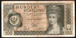 Austria 100 Shillings 1969 Schilling Osterreich Scellini - Molto Circolata - Austria