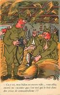 -ref-B412- Militaria - Humoristiques -  Illustrateurs - Illustrateur M.s - Bidon Vide Et Somnanbulisme - - Humoristiques