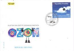 31003. Carta F.D.C. ZAGREB (Croacia) 1999. Capa OZONO. Hrvatska - Croacia