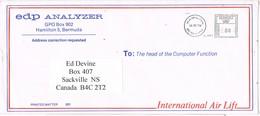 31004. Carta Aerea Impresos HAMILTON (Bermuda) 1979 To Canada - Bermudas