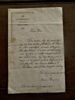 Oude Nieuwjaarsbrief  SINT - HENDRIKSGESTICHT  DEINZE 1923 - Faire-part