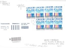 AFFRANCATURA MULTIPLA 7 X TARIFFA B SANT'EGIDIO - 1946-.. République