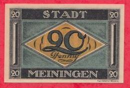 Allemagne 1 Notgeld De 20 Pfenning Stadt Meiningen UNC   N °2655 - [ 3] 1918-1933 : République De Weimar