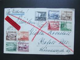 DR Nr. 651-659, 1937, R-Brief, Satzbrief, MiF, Sonderstempel Neukirchen, Eilboten *DEL2154* - Allemagne